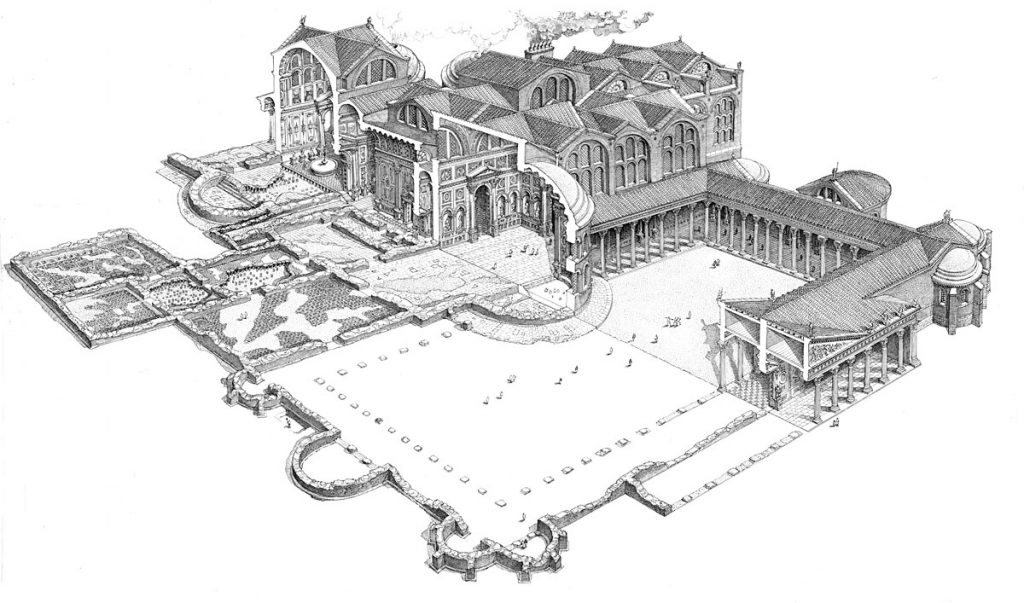 Reconstruction of Hercules Baths in Milan - Credits to Milano Archeologia
