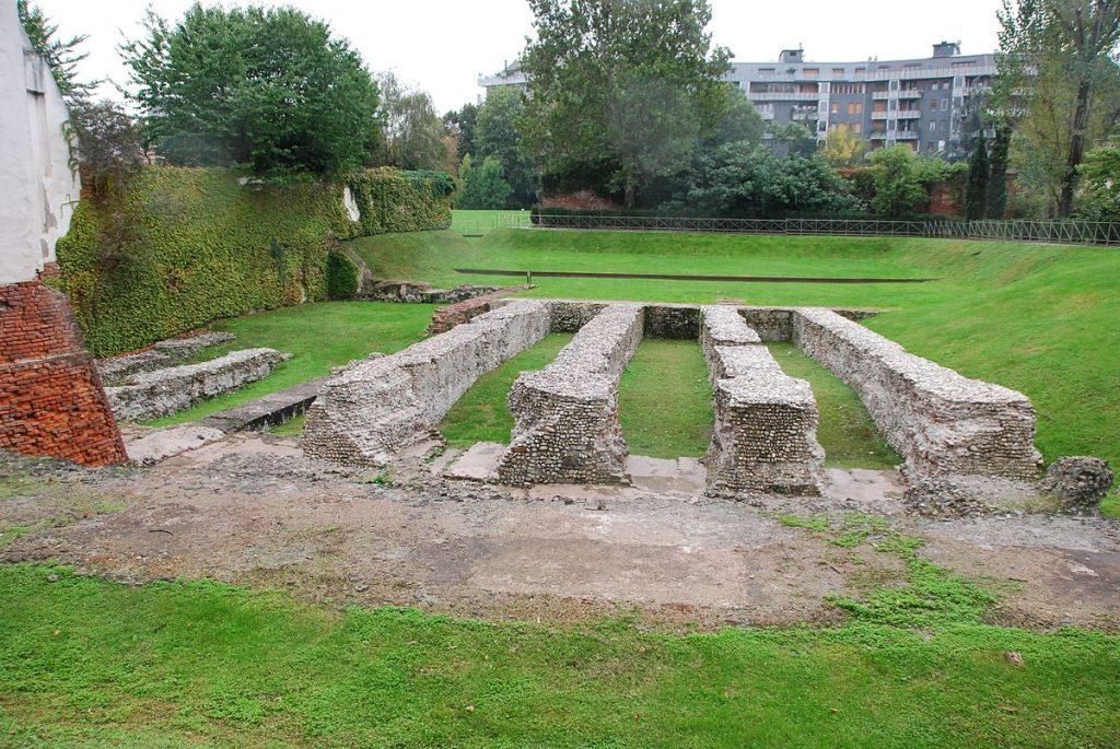 Roman Amphitheater in Milan Italy